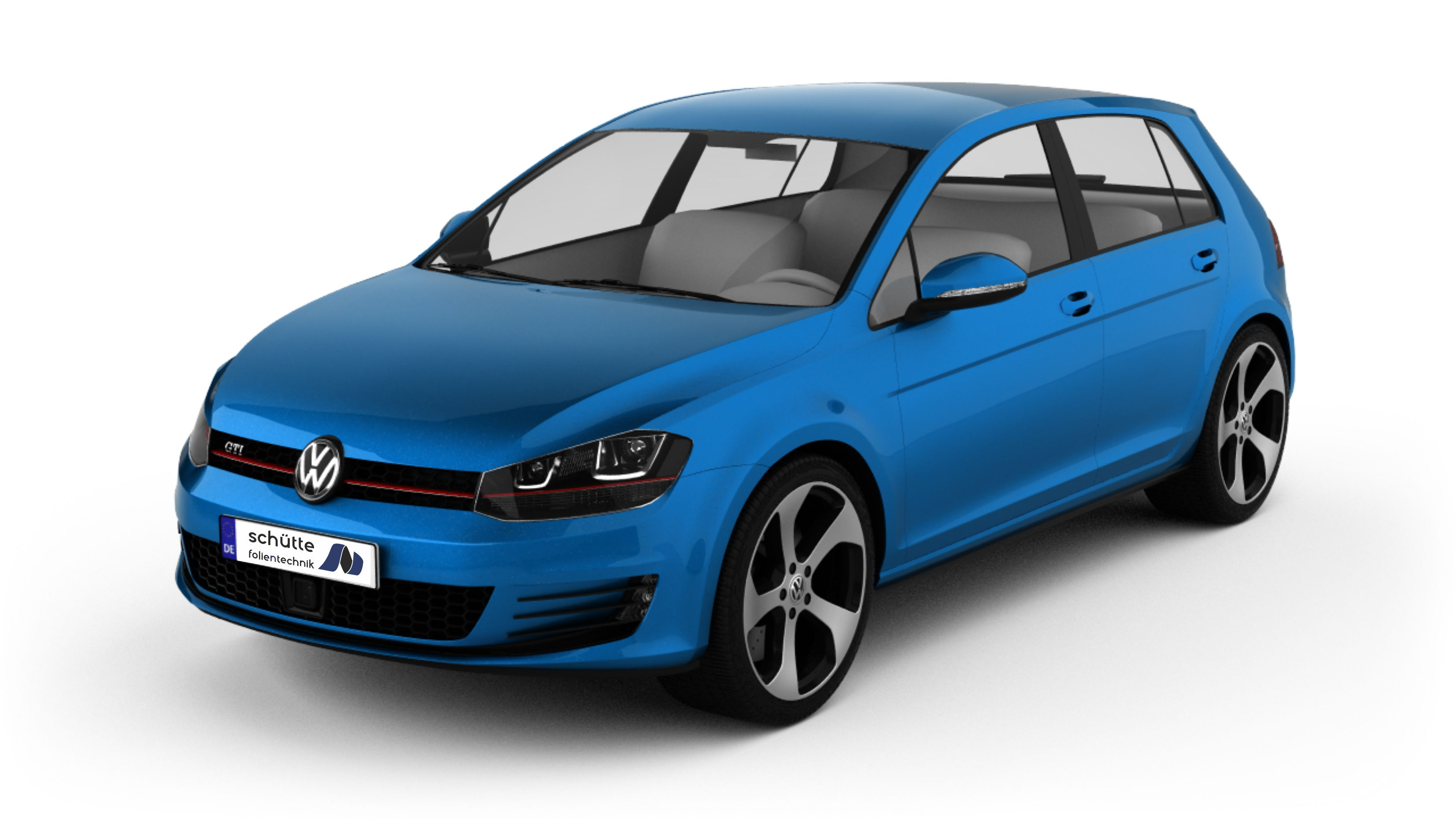 Golf bright blue metallic
